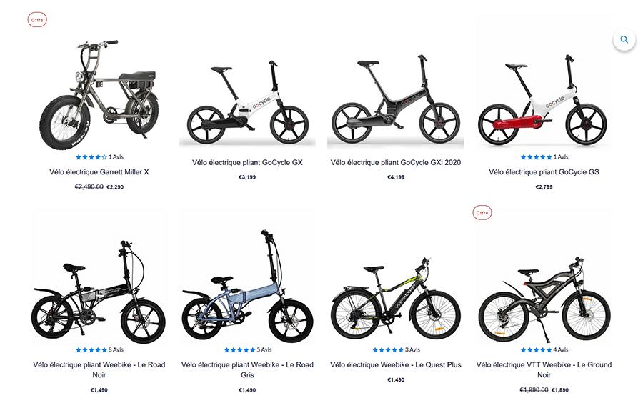 Achat vélo électrique Weebot
