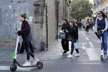 Le marché de la trottinette électronique considérablement affecté à Paris
